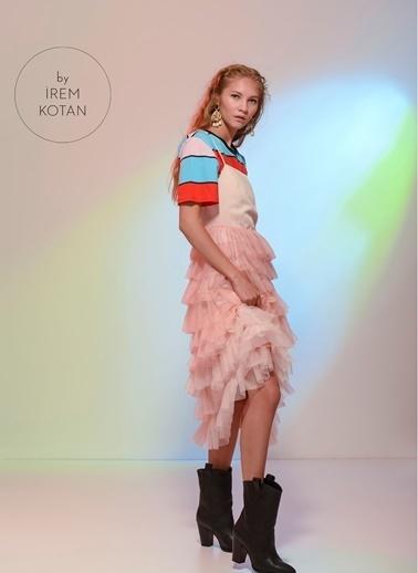 Agenda İrem Kotan Tasarımı Elbise Pembe